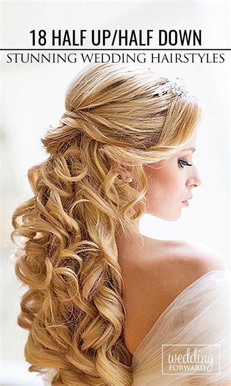 Wedding Hairstyles For Curly Hair Half Up Half by Bridal Hairstyles 18 Stunning Half Up Half Wedding