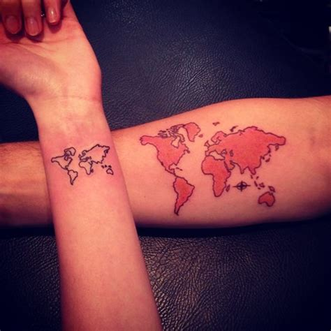 world map tattoo wrist creative map tattoos for the traveling type