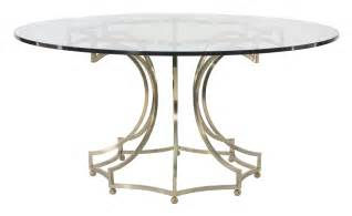 Glass Top Circular Dining Table Dining Table Glass Top With Metal Base Bernhardt