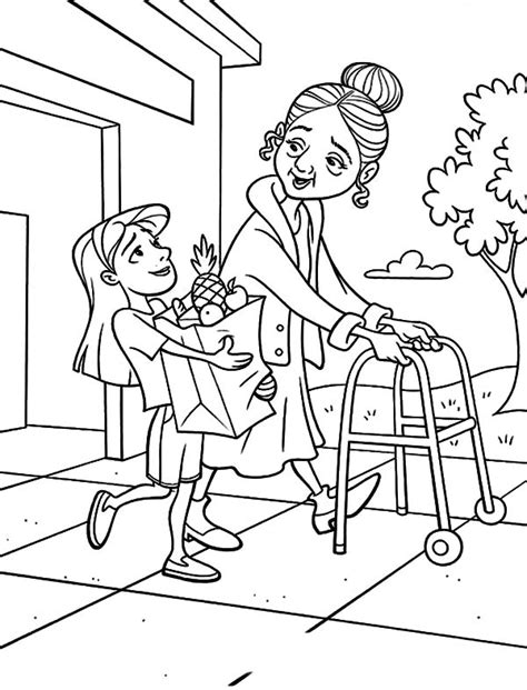 helping hands sheet coloring pages