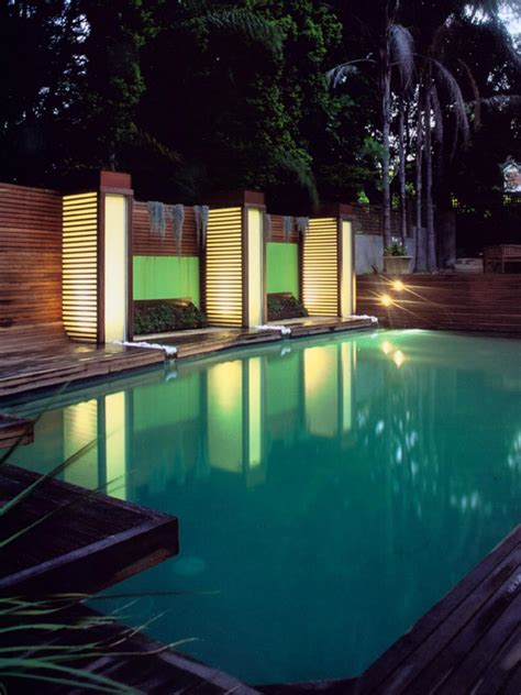 outdoor pool lighting light your landscape hgtv