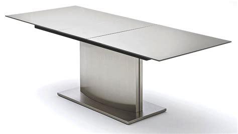 Superbe Table Salle A Manger Extensible Fly #1: table-a-manger-extensible-verre-gris-fonce-acier-poli-mistral-160-a-200-cm-.jpg