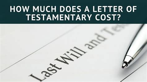 How Much Does A Letter Of Testamentary Cost new york probate lawyer fees anthony s park pllc