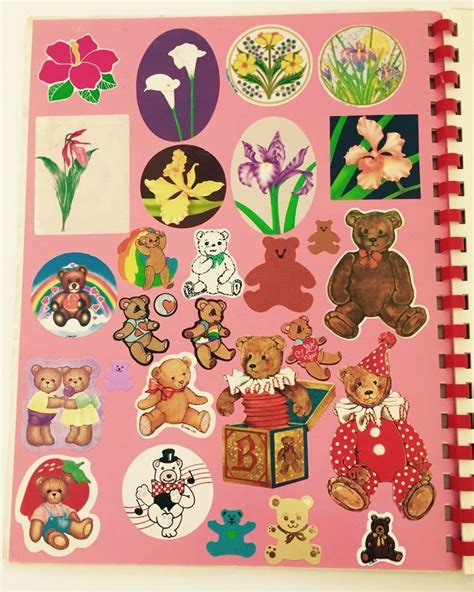 a rainbow baby book books frank vintage 80s sticker album with stickers