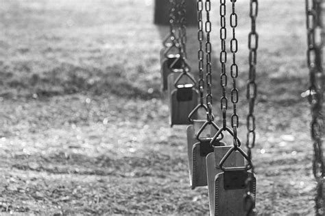swing black and white swings swingset park black and white grayscale