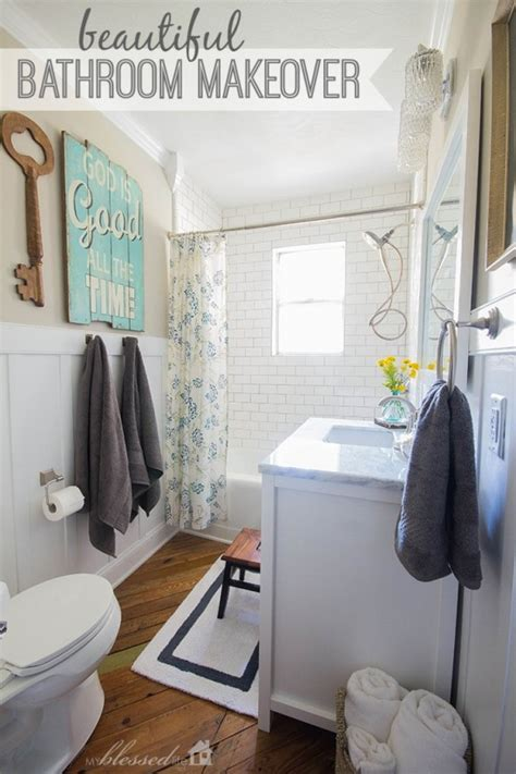 Real Bathroom Makeovers by Beautiful Cottage Style Bathroom Makeover