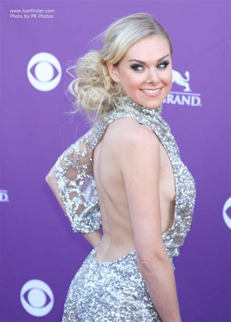 Laura Bell Bundy   Loose up style, off center and with the