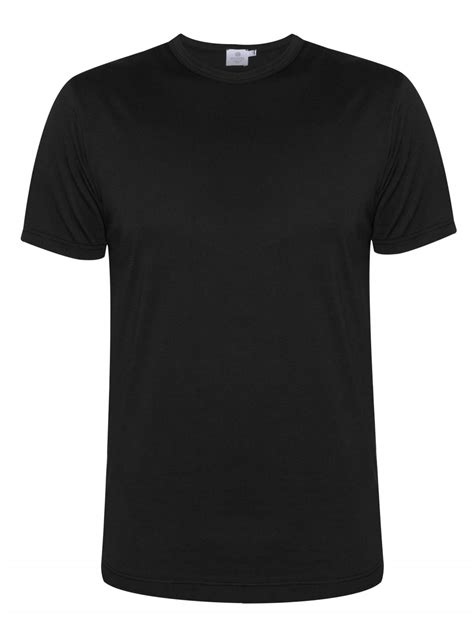 Schwarze Decke by Sunspel Q82 Black Sleeve T Shirt Designerwear