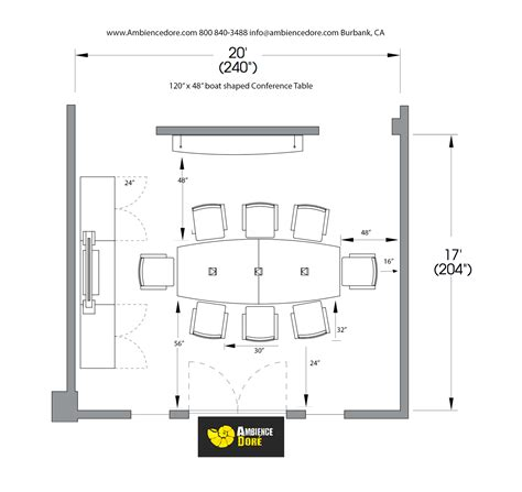 Floor Plans With Measurements by Conference Room Planning Guide Ambience Dor 233