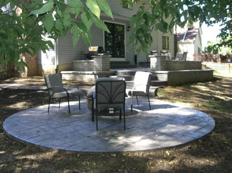 Backyard Cement Patio Ideas Sted Concrete Patio Ideas Landscaping Gardening Ideas