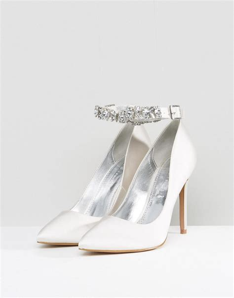 Corset Detail Stiletto Court Shoe At Asos by Lyst Asos Bridal Embellished Court Shoe In White