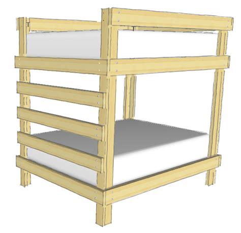 Simple Diy Loft Bed Plans Wooden Pdf How To Build A Wood Bunk Bed Frame Plans