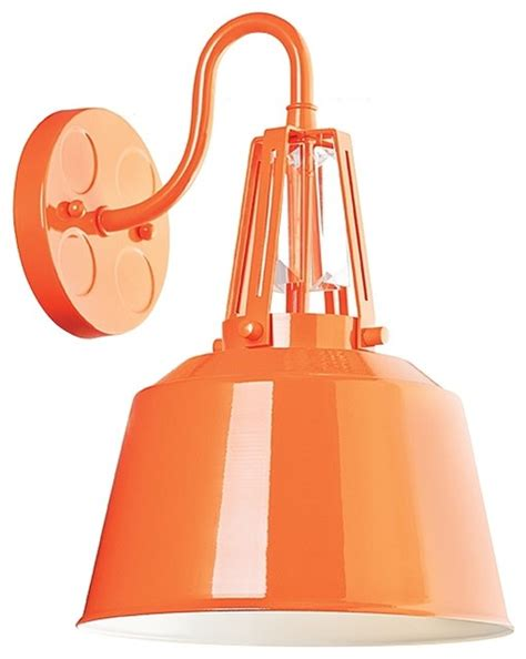 Orange Wall Sconce murray feiss freemont 1 bulb wall sconce hi gloss orange
