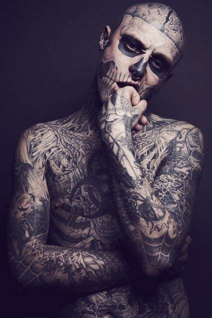 full body white tattoo skeleton man tattoo s pinterest rick genest and