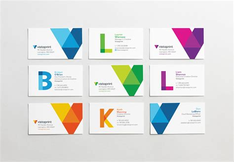 Vistaprint Gift Card - brand new new logo and identity for vistaprint by tank design and in house