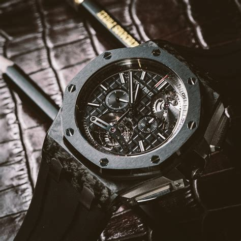 Audemars Piguet new audemars piguet carbon tourbillon chronograph live