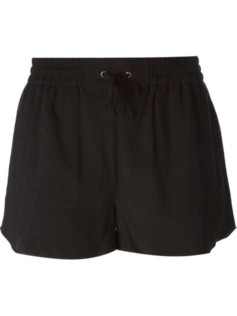 drawstring shorts dagmar black drawstring shorts lyst