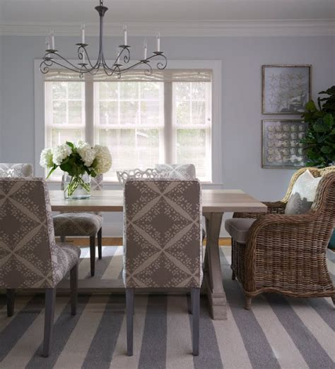 Grey Dining Room Carpet Cococozy Gray Stripes In A Seaside Cottage