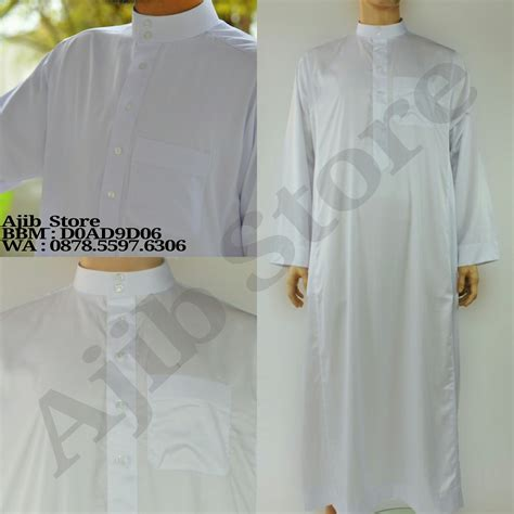 Jubah Putih Pria Jual Import Jubah Alharamain Al Haramain Baju Gamis Arab