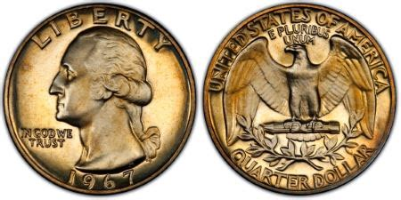 1967 25c sms, dc (special strike) pcgs coinfacts