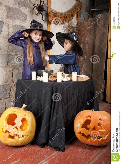 two little witches a two little witches royalty free stock photo image 26464215