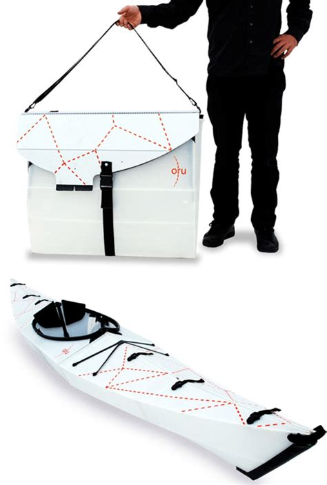 Origami Kayak - origami kayak packs flat folds up to form its own