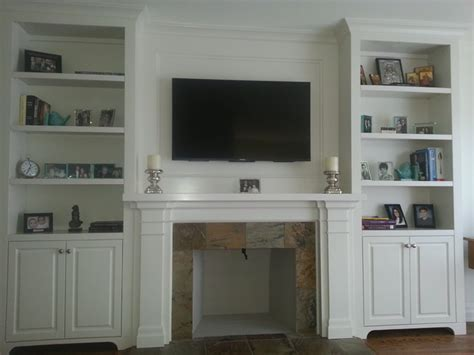 built in fireplace cabinets fireplace mantel with built in cabinets transitional