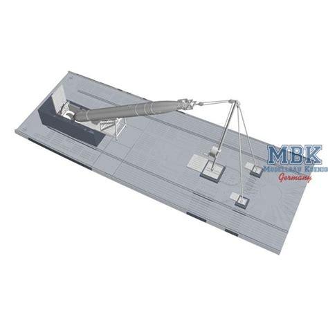 bow loading boat u boot ix bow torpedo w loading winch cart