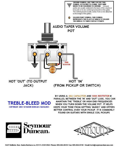 treble bleed without resistor tele volume cap telecaster guitar forum