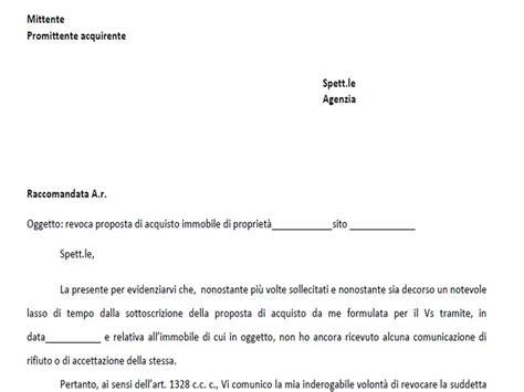 lettere avvocato lettera revoca proposta di acquisto