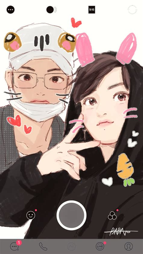 V Anime Fanart by Billiedonald Bts Bts Fanart And Kpop