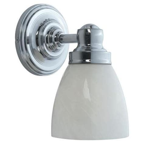 Bathroom Wall Sconces Home Depot Hton Bay 1 Light Chrome Bath Sconce Wi802508 The Home