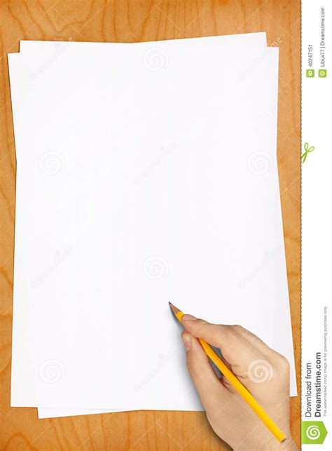 imagenes de hojas en blanco hand pencil drawing blank white sheets stock photo image