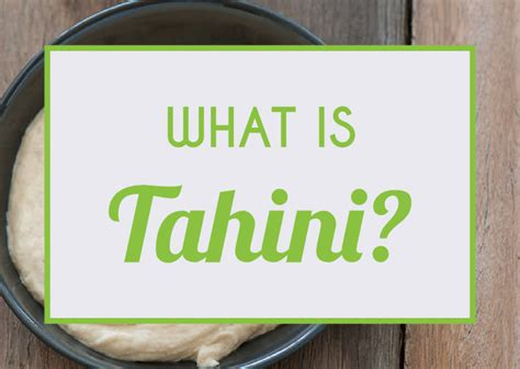 what is tahini ultimate paleo guide