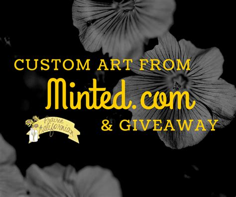 Minted Giveaway - custom art from minted com giveaway
