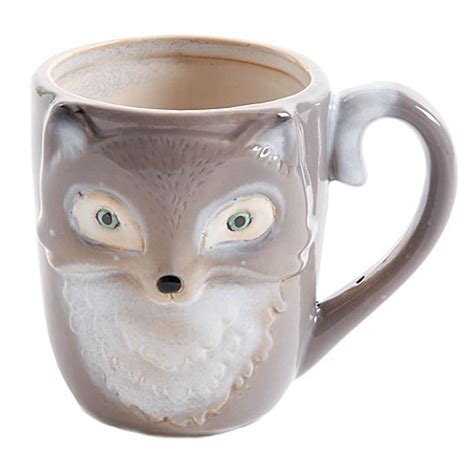 fox mug buy figural fox mug in grey from bed bath beyond