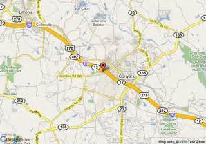 map of comfort inn conyers conyers