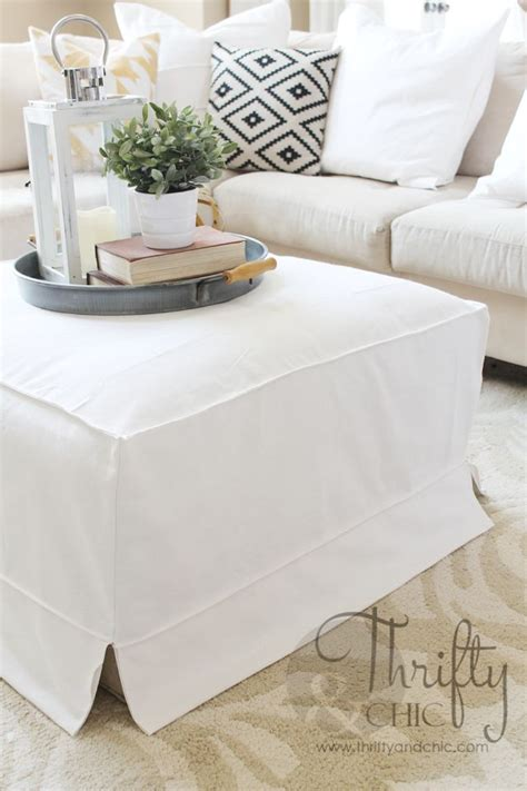 how to make an ottoman cover how to make a slipcover for an ottoman or coffee