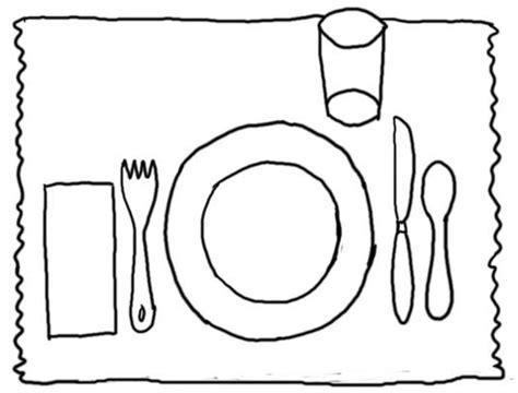 Table Manners Home Is Where The Haggis Is Manners Coloring Pages 2