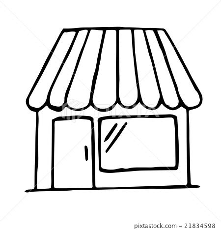 doodlebug shop shop icon isolated vector doodle stock