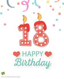 Happy 18th Birthday Wishes To My Entering Adulthood 18th Birthday Wishes