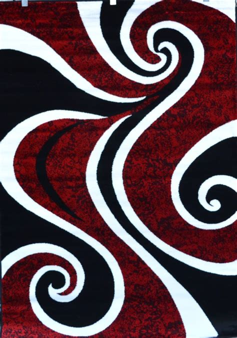 Surya Contemporary Rugs by Red Black White Contemporary Modern Carpet Area Rug New