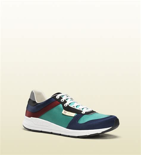 multicolor sneakers gucci multicolor satin lace up sneaker in blue for