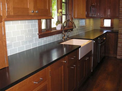 Black Glass Backsplash Kitchen Chosing A Backsplash With Black Granite Counters Kitchens Forum Home Pinterest Black
