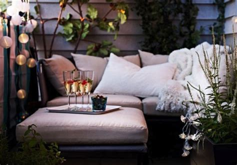 small outdoor couch small balcony furniture lights