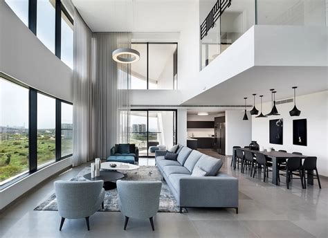 modern duplex apartment overlooking  tel aviv beaches