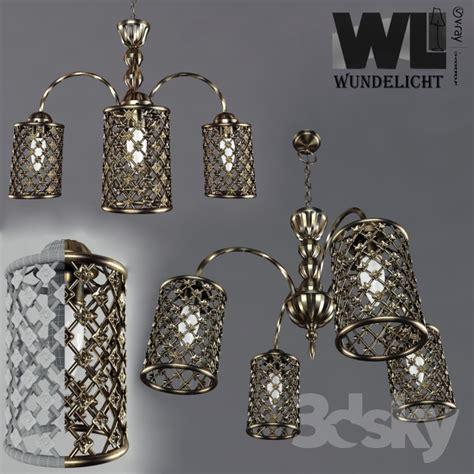 Chandelier Cell 3d Models Ceiling Light Chandelier Bronze Cell