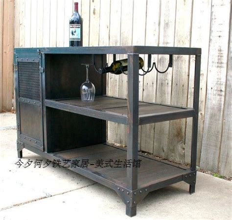 Industrial Style Bar Cabinet American Country Wrought Iron Furniture Wine Sideboard Bar Cabinet To Do The Industrial