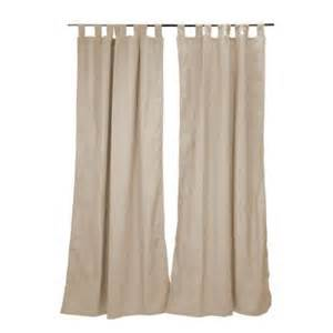 Home Depot Kitchen Curtains Hton Bay 50 In X 96 In Parchment Outdoor Tab Top Curtain Panel 7696 01407100 The Home Depot