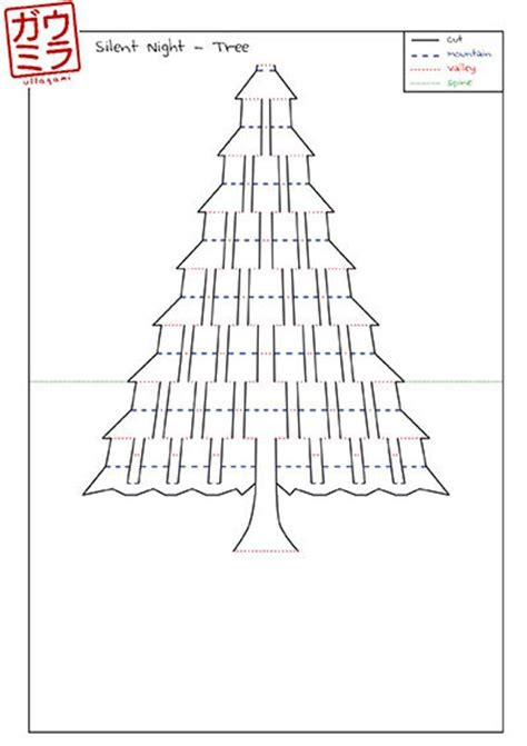 kirigami card templates pdf diy template silent tree card by ullagami